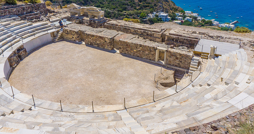 Ancient,Roman,Theater,Constructed,Around,3rd,Bc,In,Milos,Island,